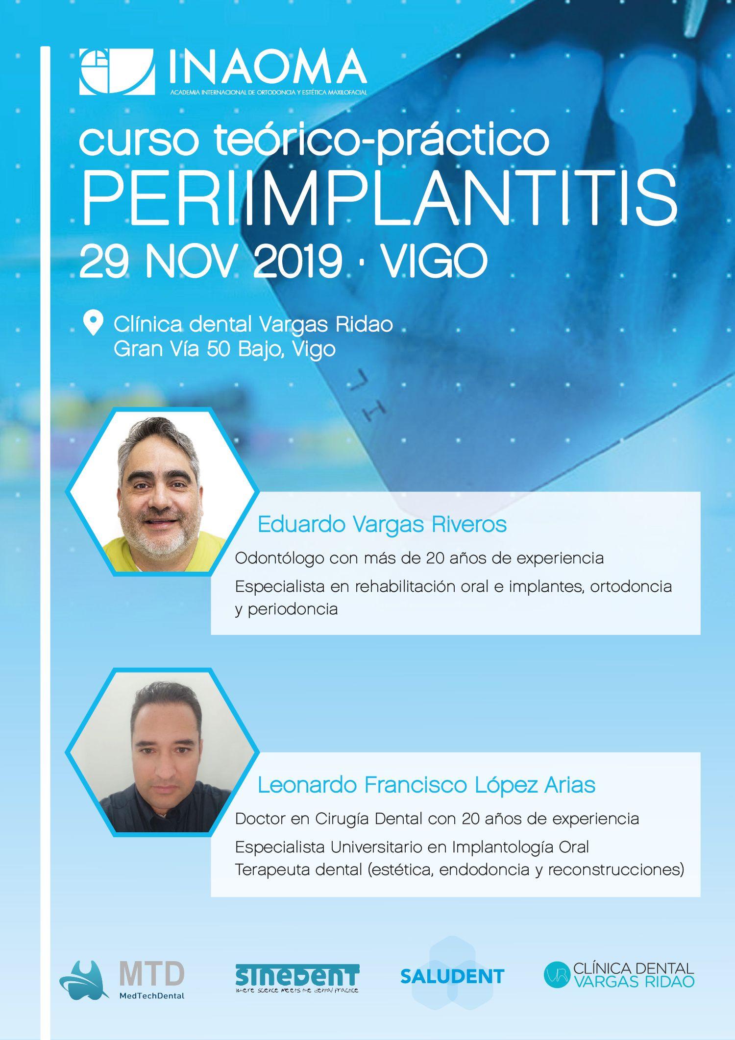 curso peri-implantitis en clínica dental vargas ridao, Vigo